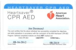 CPR Cert