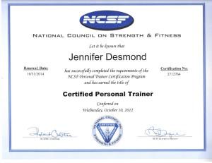 PT Certification