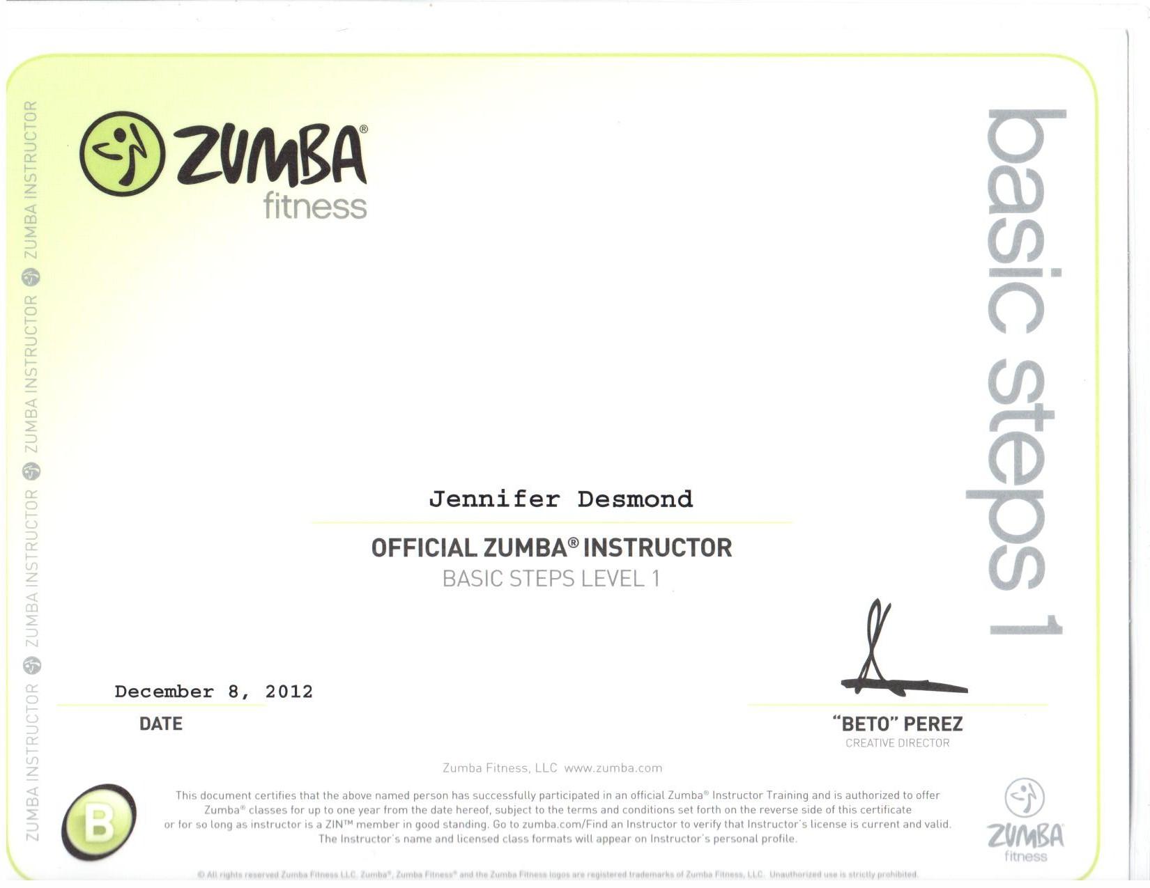Certifications Nj Fitness Trainer